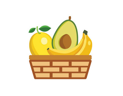 Vector design of a set of Icons for a Farmer's Market