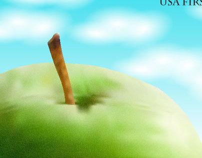 Digital Apple Illustrations