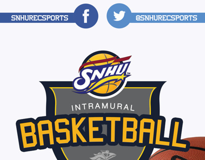 SNHU Intramural Basketball Flyer