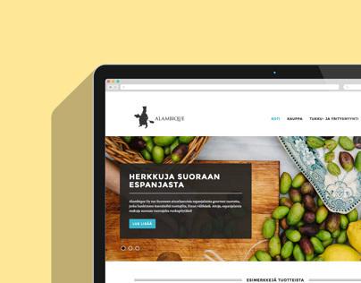 Gourmet web store Alambique.fi