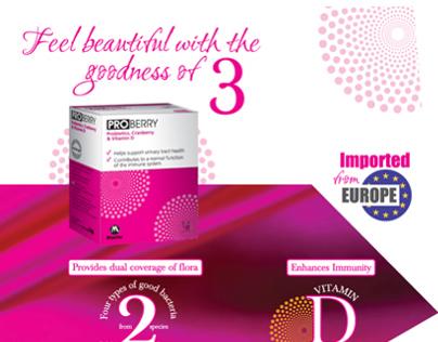Proberry (Probiotic, Cranberry & Vitamin D) Launch