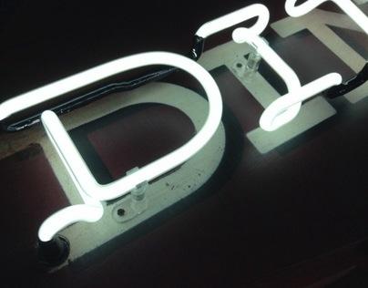 Googie Diner Neon Sign