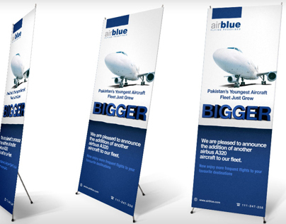 airblue globe & grows bigger standee