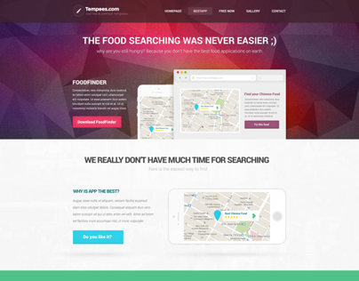 Premium Landing page for mobile app web presentation