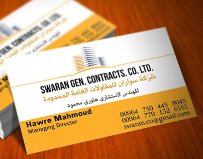 SWARAN Co. Bussines Card