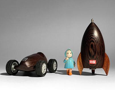 Wood carving rockets
