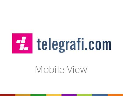 Telegrafi.com Mobile View