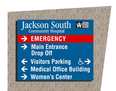 Jackson Health South Hospital Signage