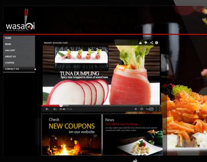 Wasabi Restaurant Website