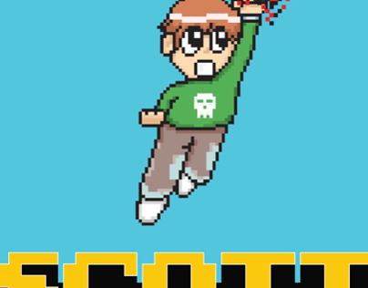 Scott Pilgrim vs. The World (Pixel Art Poster)