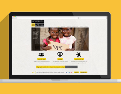 Website - Non-profit Organization; Homeless in Africa