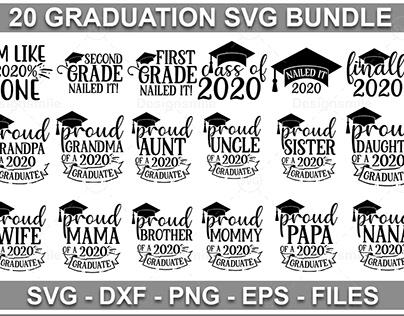20 Graduation SVG Bundle
