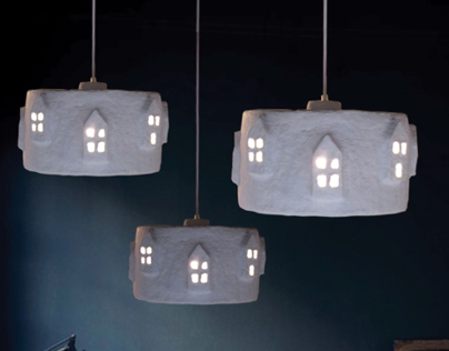 City Lights White | Paper Pulp Lamp