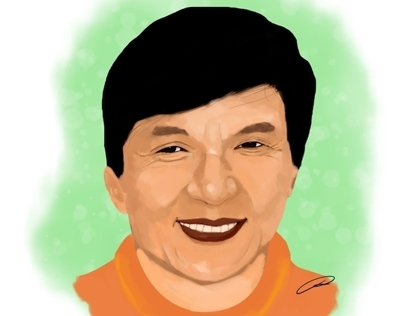 Jackie Chan Digital Painting