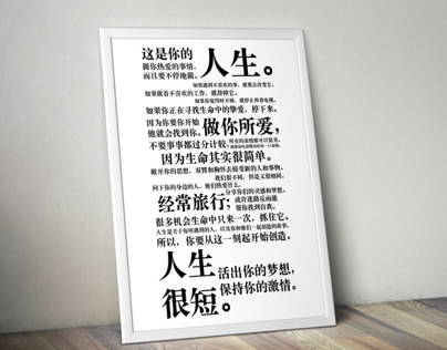 the Holstee Manifesto redesign in Chinese