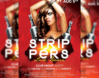 Strippers Lock Down - Club A5 Template