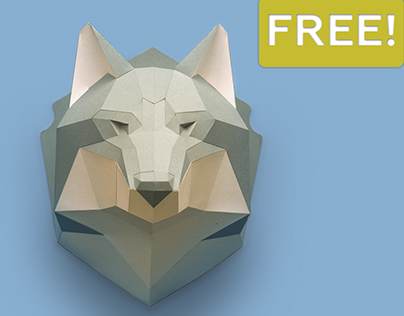 Free 2D Template of Wolf's Head