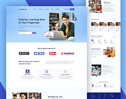 Education website landing page | E-learning Website