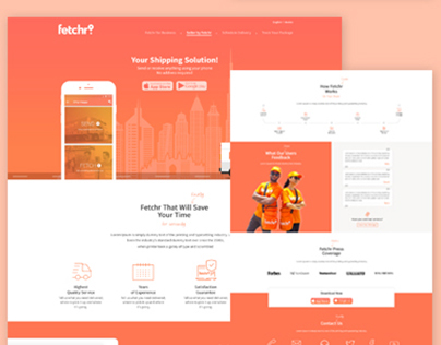 Fetchr Landing Page