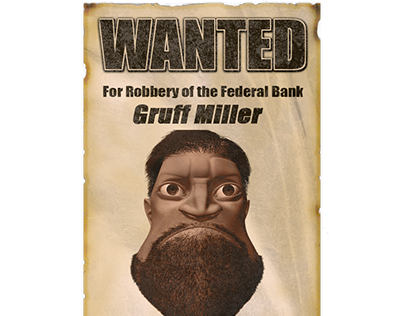 Old Western Wanted Poster