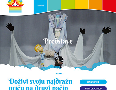 Website for Zagreb Puppet Theatre