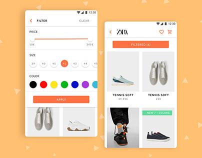 Concept for an e-commerce app