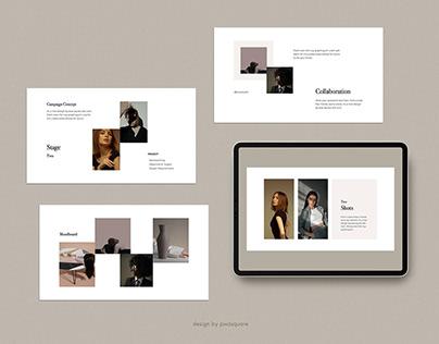 DONA - Media Kit Branding Design Template Presentation