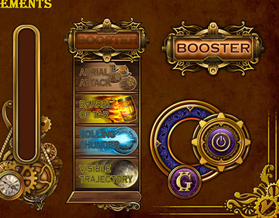 Steampunk UI elements