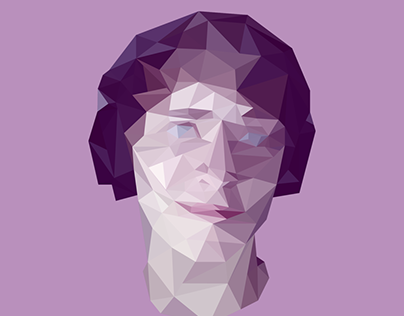Low-Poly Triangle Portrait