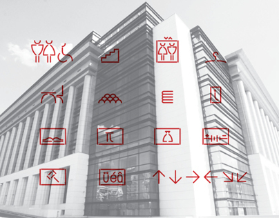 Wayfinding System Bucharest National Library