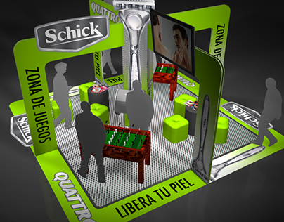 Schick - Tradeshow booth