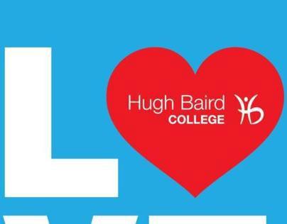 Hugh Baird College Valentine's Day recruitment postcard