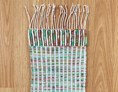 Wrapped Thread Woven Tapestry