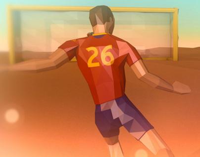 Kinect Beach Soccer Experience
