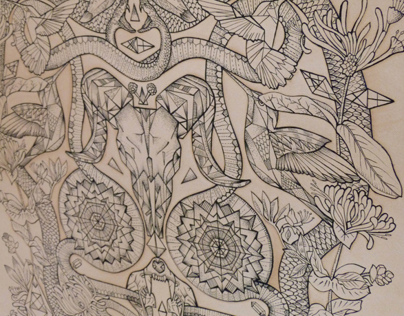EVERYTHING HAS BEAUTY. Tattooed leather art
