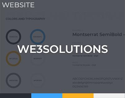 WE3 Solutions Website Design Concept