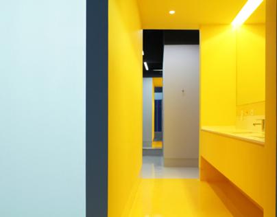 Kalorias professional's dressing room