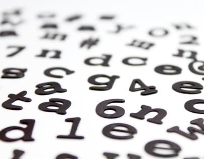 Fridge Fonts Magnetic Alphabets