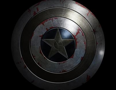 Damaged Captain America Shield