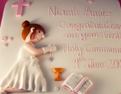 Holy Communion Cake - Girl