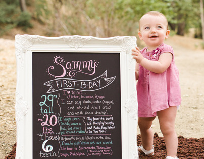 Hand-Lettered Birthday Boards