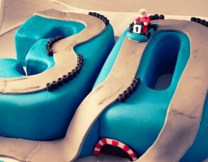 30th Birthday Go Kart Cake