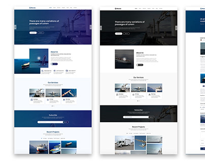 UI Design for Powerful Business Template - Bizcola