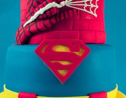 Superhero Tiered Cake