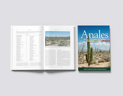 """Libro """"Anales del Jardín Botánico"""" - CSIC"""