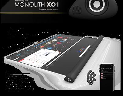 Monolith flexilble display