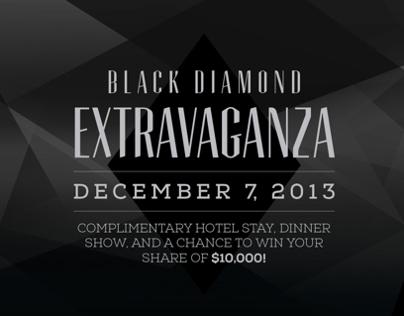 Black Diamond Party Invite