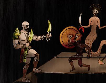 """Video Game """"God of War (tm)"""" arts"""