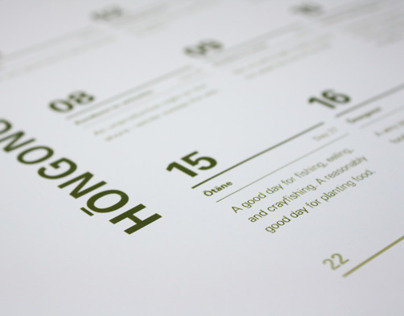 Matariki Calendar design