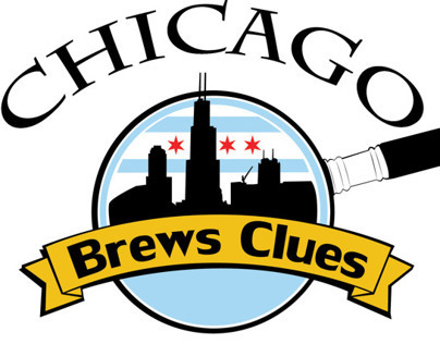 Chicago Brews Clues Logo & Cover Design